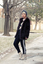 H&M coat - adidas pants - emilywoudenbergcom necklace