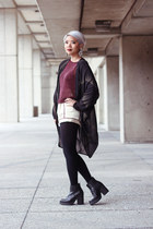 may Miista boots - sheer Mink Pink coat - metallic H&M Trend sweater