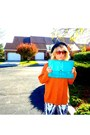 Black-forever21-shoes-white-h-m-pants-orange-thrifted-sweater-turquoise-bl