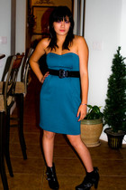 LC Lauren Conrad dress - Betsey Johnson belt - Simply Vera by Vera Wang boots -