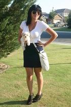 f21 t-shirt - f21 skirt - Miu Miu purse - f21 shoes - Vtg sunglasses