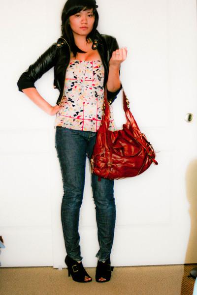 ashley jacket - Diane Von Furstenberg top - Miss Sixty jeans - charles albert bo