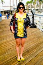 Juicy Couture top - Earnest Sewn shorts - Kooba purse - tory burch shoes - Vtg b