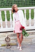 bubble gum DIY skirt - light pink weekday shirt