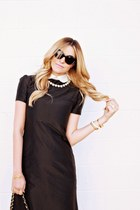 black a line dress cou dress