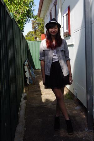 fedora rubi hat - tutu Dotti dress - suede rubi heels