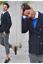 Givenchy loafers - lanvin jacket - Zara sweater - Hermes bracelet