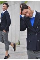 Givenchy loafers - lanvin jacket - Zara sweater - Hermes bracelet