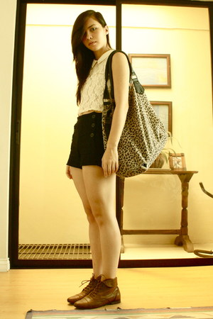 Topshop shirt - Forever 21 bag - Forever 21 shorts