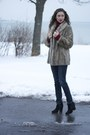 Black-suede-bjorndal-boots-family-heirloom-vintage-coat