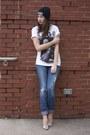 Zebra-pumps-guess-shoes-express-jeans-black-beanie-university-of-ottawa-hat