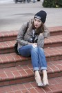Zebra-pumps-guess-shoes-express-jeans-black-beanie-university-of-ottawa-hat
