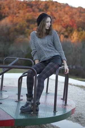 combat boots Mia boots - TJ Maxx hat - JCPenney sweater - TJ Maxx tights