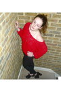 Red-ruffles-american-apparel-sweater-black-leather-pants-topshop-pants