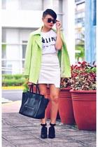 lime green oversized jacket - black bianca Alexander Wang shoes