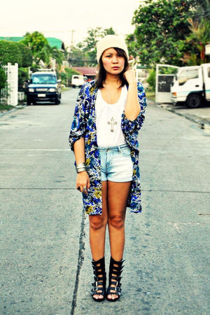 blue Museum Clothing jacket - blue Zara shorts - white Zara - black Soule Phenom