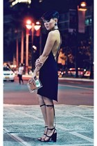 aline gladiator Alexander Wang heels - backless dress - purse
