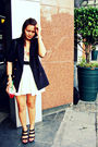 Black-love-vintage-manila-blazer-yellow-belle-york-white-skirt-black-forev