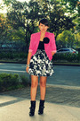 Pink-style-district-blazer-black-boots