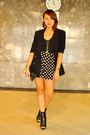 Black-topshop-shorts-black-love-vintage-blazer-black-prp-shoes-gold-foreve