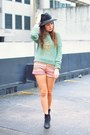 Black-topshop-boots-green-sweater-pink-k8la-shorts