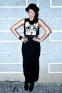 Black-mash-up-skirt-black-topshop-top-black-soule-phenomenon-shoes