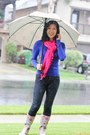 Royal-blue-banana-republic-shirt-rainboots-target-boots