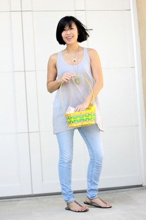 skinny J Brand jeans - H&M shirt - Forever 21 necklace