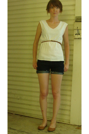 top - shorts - Urban Outfitters belt - shoes