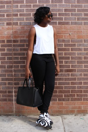Urban Outfitters jeans - asos shirt - Zara bag - Reebok sneakers