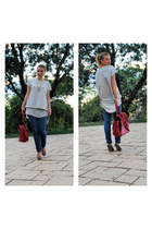 Zara blouse - Zara shoes - H&M jeans - New Yorker bag
