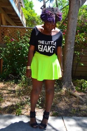 neon skirt GoJane skirt - romwe top
