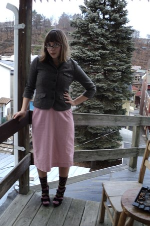 Andrew and Co jacket - vintage dress - decree shoes
