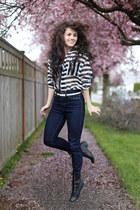 modcloth top - similar Target boots - modcloth jeans