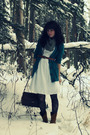 Green-old-navy-cardigan-white-bcbg-dress-black-wet-seal-tights-brown-targe