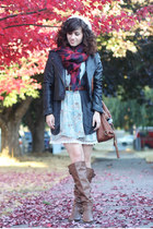 AsianICandy jacket - Blowfish boots - modcloth dress - Nordstrom hat - H&M scarf