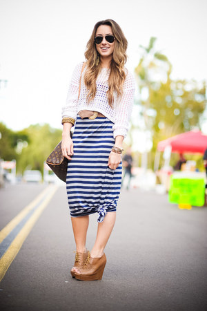 knit Forever21 sweater - maxi dress Target dress - Louis Vuitton bag