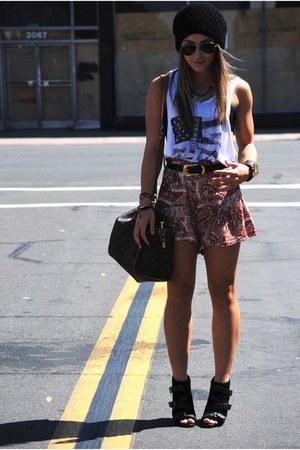 Forever21 shorts - Report heels - CottonOn t-shirt - Michael Kors watch