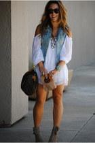 Forever21 accessories - Cold Shoulder dress - H&M sunglasses