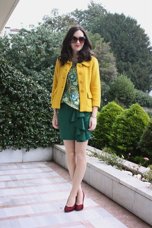 BB Dakota jacket - Boutikchik top - H&M skirt - Rocket Dog heels