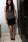 Nikicio-top-fashon-skirt-charles-keith-pumps-casio-watch-pull-bear-rin