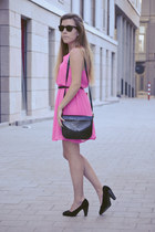 H&M dress - vintage bag - Springfield pumps