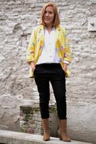vintage blazer - Bershka pants - vintage blouse - Zara wedges