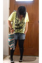 Urban Outfitters shirt - Wax shorts - farmers market purse - Nine West shoes - W
