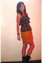 Urban Outfitters shirt - Charlotte Russe dress - thrifted belt - Target boots