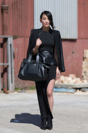 black Life With Bird boots - black Helmut Lang blazer - black 31 Phillip Lim bag
