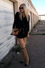 Black-zara-boots-mustard-tjmaxx-bag