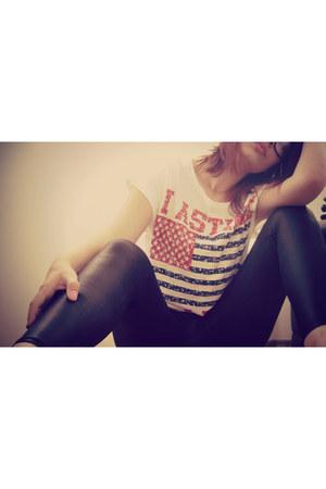 cotton ADROM t-shirt - black Lavradolls leggings