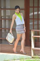 skirt - bag - Topshop top - H&M accessories - Zara sandals