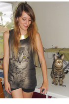 cat DIY ring - sinclothing dress - choker xhilaration necklace